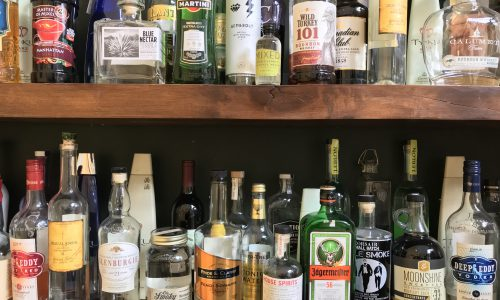 Liquor On Shelf